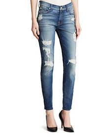 7 For All Mankind - The Ankle Skinny Destruction J