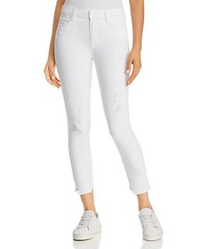 PAIGE - Hoxton Ankle Skinny Jeans in Crisp White D