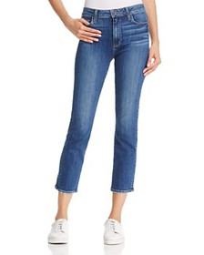 PAIGE - Jacqueline Straight-Leg Jeans in Medium Bl
