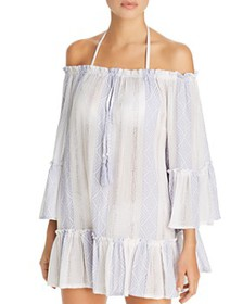 Surf Gypsy - Woven Stripe Off-the-Shoulder Tunic S