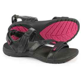 Maya Sport Sandals - Leather (For Women) in Black/