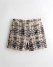Hollister Ultra High-Rise Knit Short, BROWN PLAID