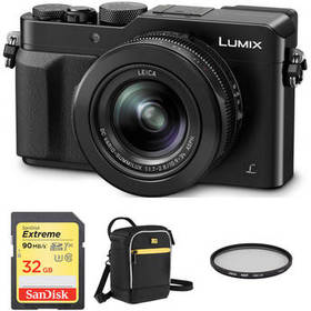 Panasonic Lumix DMC-LX100 Digital Camera with Acce