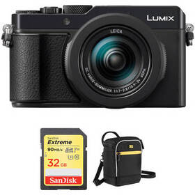 Panasonic Lumix DC-LX100 II Digital Camera with Ac