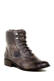 BC Footwear Hood Faux Shearling Trimmed Lace-Up Bo