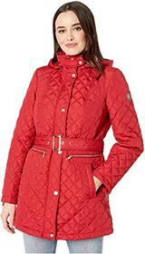 Vince Camuto Quilted Belted Trench V19703