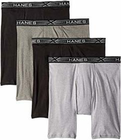 Hanes 4-Pack Platinum X-Temp Combed Cotton Long Le