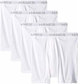 Hanes Core Cotton Platinum Boxer Briefs Pack
