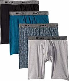 Hanes 4-Pack Stretch Long Leg Boxer Briefs