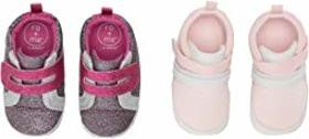 Robeez Ro + Me Glitter Athletic/Jill Athletic 2-Pa