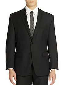 Calvin Klein Classic-Fit Wool Suit Jacket BLACK