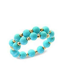 Effy 18K Yellow Gold and Turquoise Ring TURQUOISE