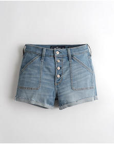 Hollister Advanced Stretch High-Rise Denim Short 3