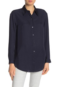 Theory Oversized Button Front Blouse