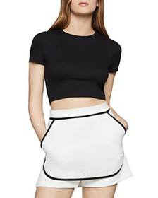 BCBGENERATION - Cropped Rib-Knit Baby Tee