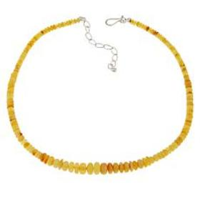 """Jay King 18"""" Sterling Silver Butterscotch Amber Be"""