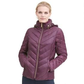 Designer Brand Chevron Packable Nylon Puffer Coat