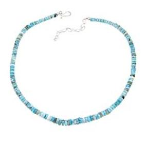 """Jay King Larimar Bead Sterling Silver 19"""" Necklace"""