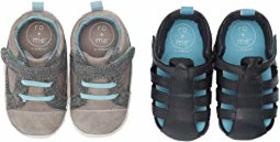 Robeez Ro + Me Casual Parker/Andrew Sandal 2-Pack