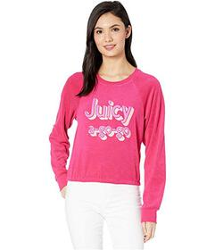 Juicy Couture Juicy A Gogo Microterry Logo Pullove