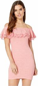 BCBGeneration Off the Shoulder Ruffle Bodycon Dres