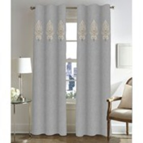 CATHERINE MALANDRINO Set of 2 2-Rod Pocket Curtain