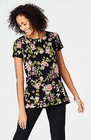Wearever Buttoned-Back Top