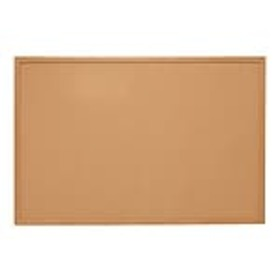 Staples Standard Durable Cork Bulletin Board, Oak