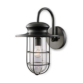 ELK Lighting Portside Matte Black 1-Light Large Ou