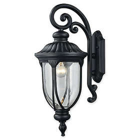 Elk Lighting Derry Hill Outdoor Wall Sconce in Bla