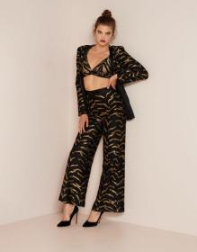 Genevieve Tux Jacket Black and Gold