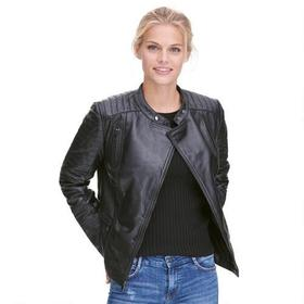 Wilsons Leather Asymmetrical Lamb Moto Jacket w/ Q
