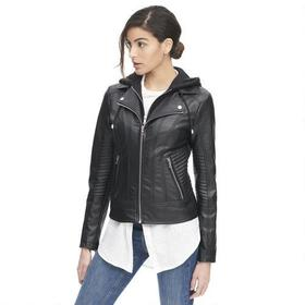 Designer Brand Cycle Faux-Leather Jacket w/ Cable