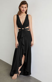 BCBG Cutout High-Low Gown