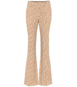 Chloé Printed flared crêpe pants