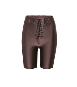 Unravel Lace-up stretch shorts