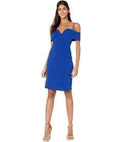 Bebe Fold-Over Off the Shoulder Short Dress