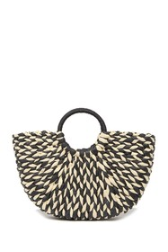 Urban Expressions St. Barts Straw Cresent Tote