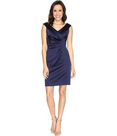 Tahari by ASL Stretch Satin Sheath Dress with Side