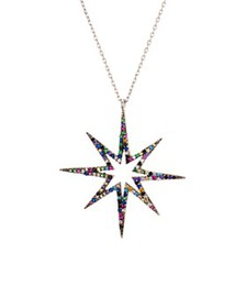 AQUA - Multicolor Star Pendant Necklace in Sterlin
