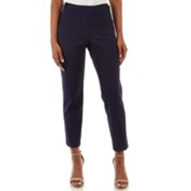 Slim Fit Career Pants with Shining Button Tabs