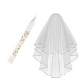 Wedding Veil - Pretty See Bride Veil Set Cascade S