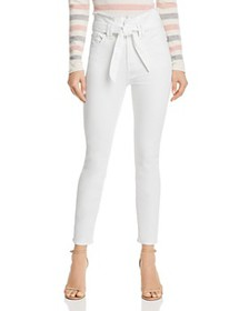 7 For All Mankind - Paperbag-Waist Jeans in White