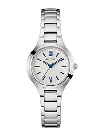 Bulova Classic Blue Markers Stainless Steel Slim B