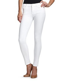 J Brand - 835 Mid-Rise Cropped Skinny Jeans in Bla