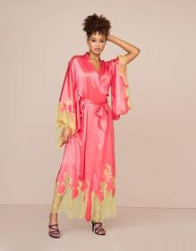 Christi Long Gown Pink And Lime