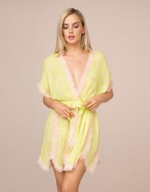 Ismay Gown Lime And Pink