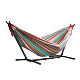Vivere Double Hammock with 9' Stand Combo, Tropica