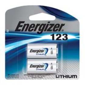 Energizer Lithium Battery CR123, 2-Pack