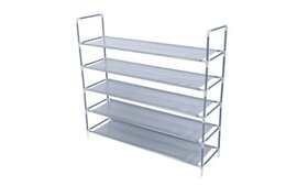 Simple Assembly 5 Tiers Non-woven Fabric Shoe Rack